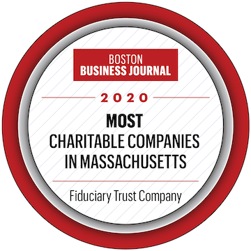 Boston Business Journal 2020 Most Charitable Companies logo