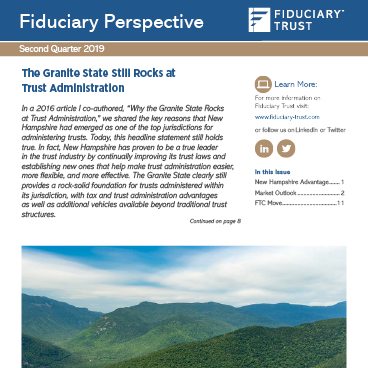 2019 second quarter Fiduciary Perspective cover
